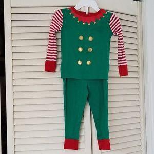 Elf Pajama set Green/Red/White/Gold